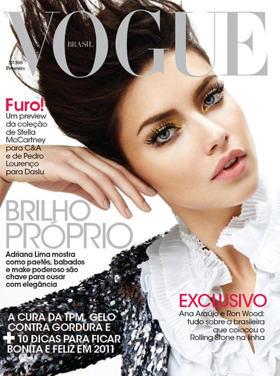 Pierrot in Love: Adriana Lima per Vogue