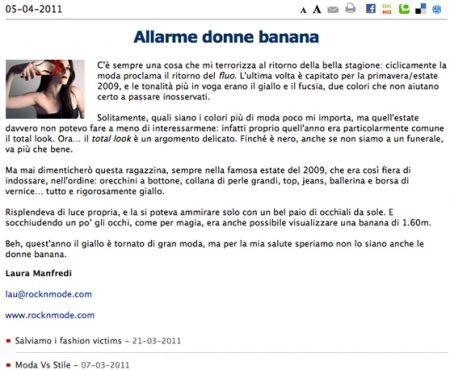 Allarme donne banana