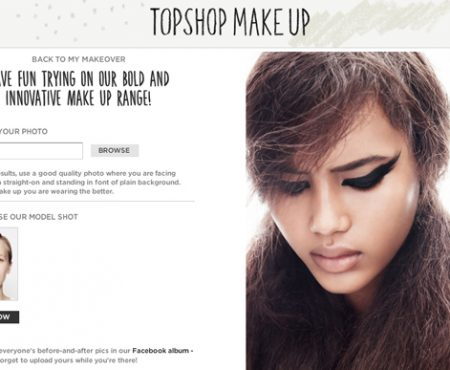 Topshop Virtual makeover