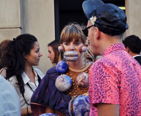 Streetstyle @ Prada fashion show