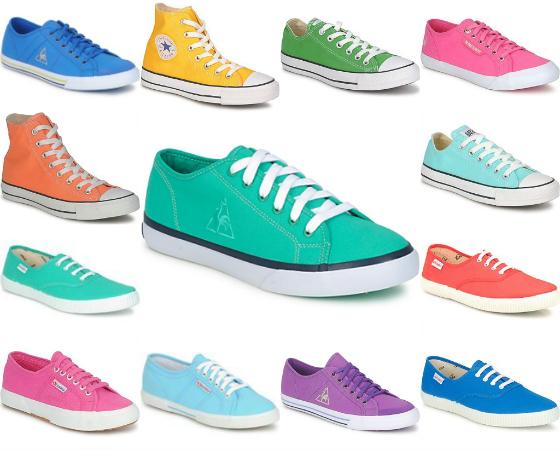 collezione p/e 2012: scoppia la mania per le sneakers colorate
