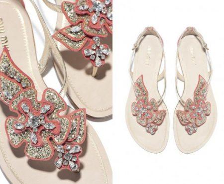 I nuovi sandali gioiello Miu Miu ispirati al mondo marino