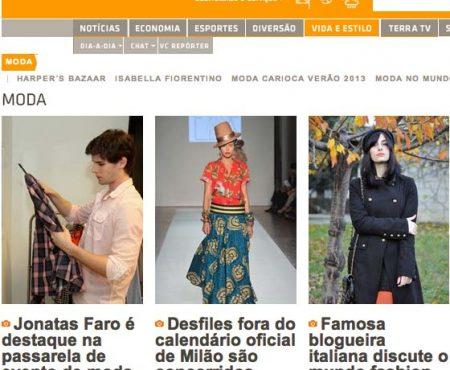 Intervista per Terra.com.br, il portale di notizia brasiliano più seguito