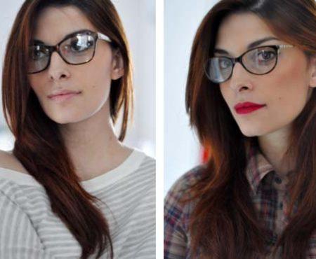 "Vogue eyewear: ""Ma che occhiali ti metti?"" – Due modelli, due look, due make-up diversi"