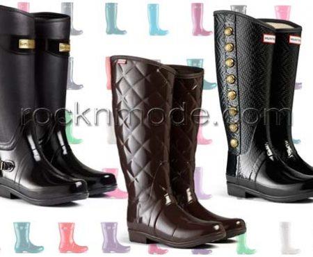 Hunter: gli stivali da pioggia preferiti dalle Regine