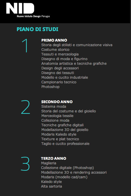 Diventare stilista di moda: I corsi del NID – Nuovo Istituto Design Perugia