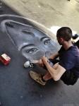 artista di strada, artista in via del corso, street art