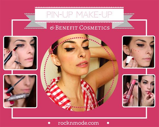Make-up tutorial con Benefit Cosmetics  trucco Pin-Up anni 50 4c128a8ca4a