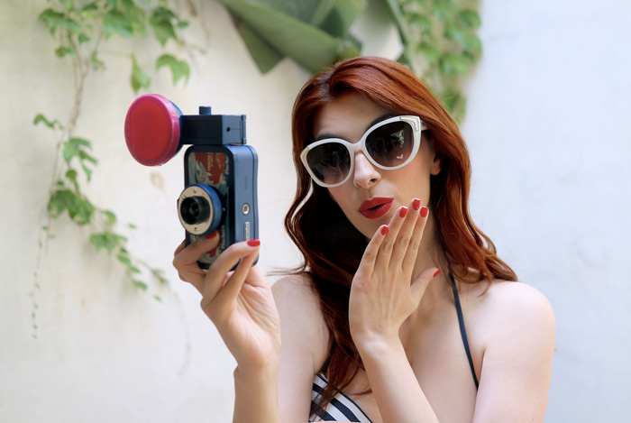 Laura Manfredi, look retro, summer outfit, rocknmode, rock'n'mode, shooting in Barcelona, ph Nunzia Cillo, swimwear women's secret, make-up pin-up, retrò style, vintage inspired