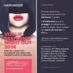 VFNO, Hairdressr, piega gratis, Vogue Fashion Night Out, tagli capelli, app parrucchieri, parrucchiere gratis