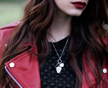 Outfit + Make-up – Rock Rouge Noir