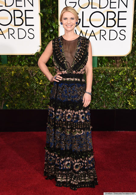 Claire Danes in Valentino, Golden Globe Awards, Golden Globes 2015
