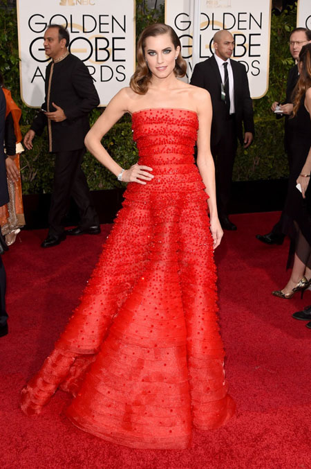 Allison Williams, Armani Prive, Golden Globe Awards 2015, Golden Globes 2015