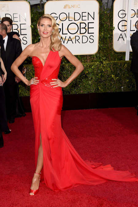 Golden Globes, Golden Globe Awards 2015, Heidi Klum in Versace