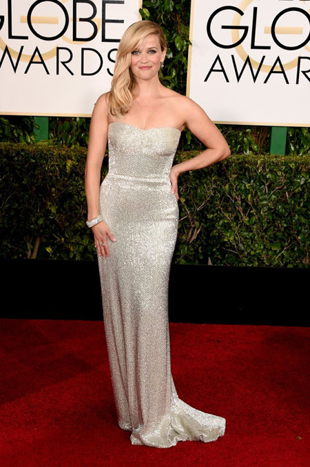 Reese Witherspoon in Calvin Klein, Golden Globes 2015