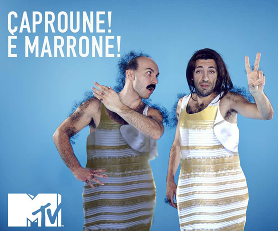 Maccio, Mtv, #TheDress: i geni del marketing (e non solo) sempre sul pezzo, #thedress, brand #thedress, meme #thedress, white and gold, black and blue, #whiteandgold #blackandblue,