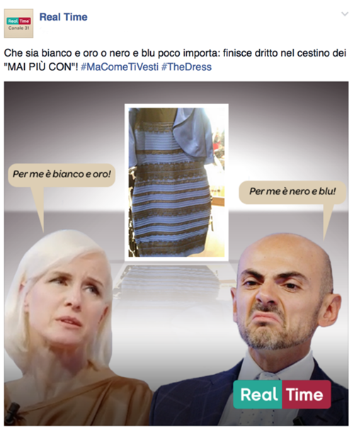 realtime, #TheDress: i geni del marketing (e non solo) sempre sul pezzo, #thedress, brand #thedress, meme #thedress, white and gold, black and blue, #whiteandgold #blackandblue,