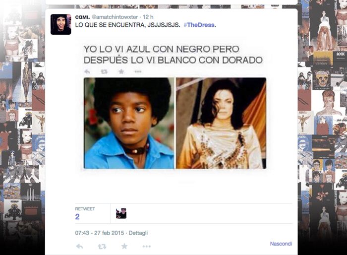 Michael Jackson, Twitter #thedress, #TheDress: i geni del marketing (e non solo) sempre sul pezzo, #thedress, brand #thedress, meme #thedress, white and gold, black and blue, #whiteandgold #blackandblue,