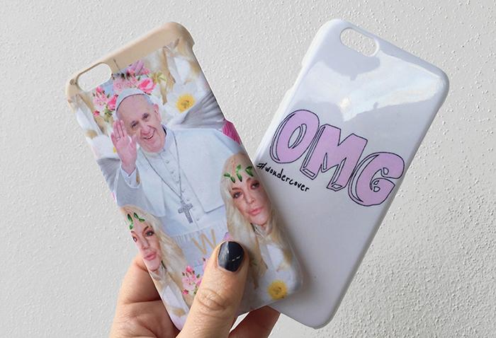 Wondercover, Wonderlover, cover smartphone di tendenza, trends cover 2015, cover iPhone6, cover Lindsay Lohan, cover Kim Kardashian, Cover Papa Francesco, Cover OMG